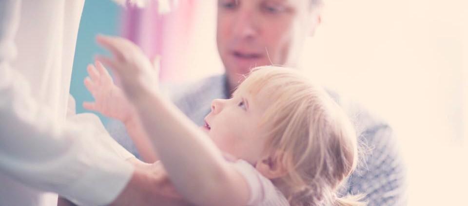 Little Girl Reaching